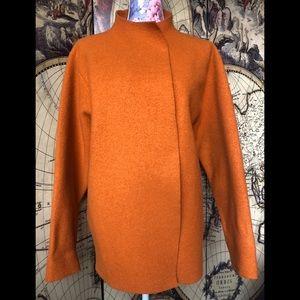 Eileen Fisher burnt orange wool coat.